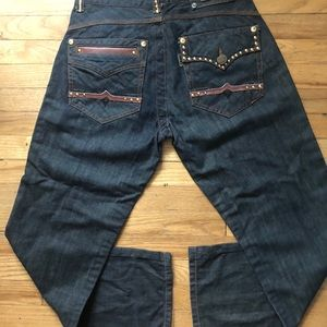 ⬇️45 Parish Gold Embellished Relaxed Fit Jeans 34